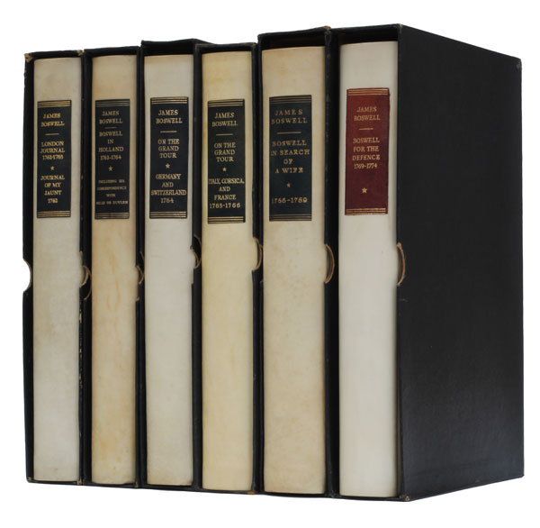 The Yale Editions of the Private Papers of James Boswell. James Boswell.
