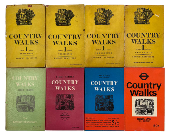 Country Walks. Charles White, Leigh Hatts, Ron Pigram, Eric Ravilious illustrations.