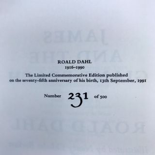 The Commemorative Limited Edition of the Works of Roald Dahl