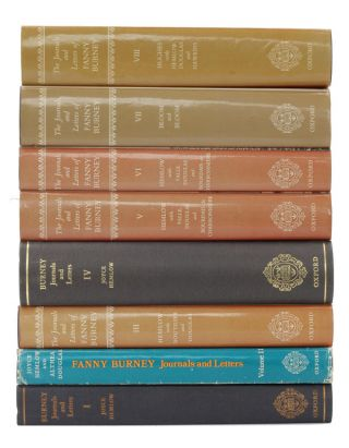 The Journals and Letters of Fanny Burney (Madame d'Arblay) Volumes 1-8. Fanny Burney
