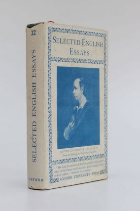 Selected English Essays. W. Peacock, chosen and